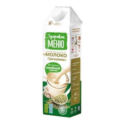 Здоровое меню молоко гречневое, 1л