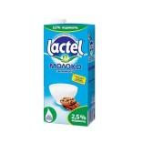 Молоко Lactel с витамином D 2,5%, 1л
