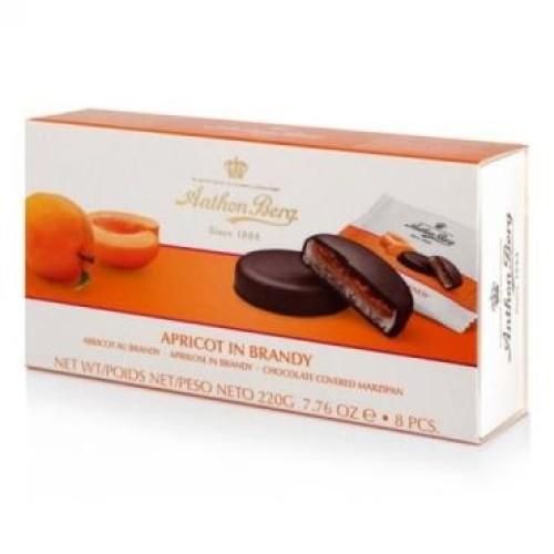 Anthon Berg конфеты шоколадные с марципаном Абрикос и бренди, 220 гр