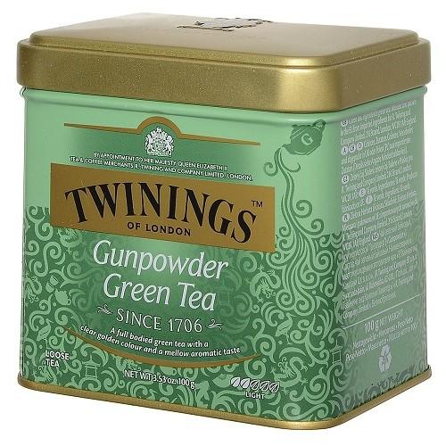 Twinings чай зеленый Gunpowder, ж/б, 100 гр