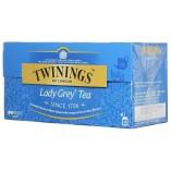 Twinings чай черный Lady Grey, 25 пакетиков