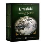 Greenfield черный чай Earl Grey Fantasy, 100 пакетиков