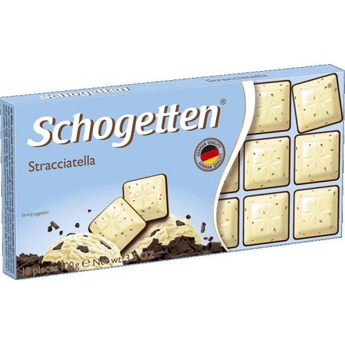 Schogetten шоколад белый с какао и горьким шоколадом, 100 гр