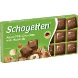 Schogetten шоколад молочный с фундуком, 100 гр