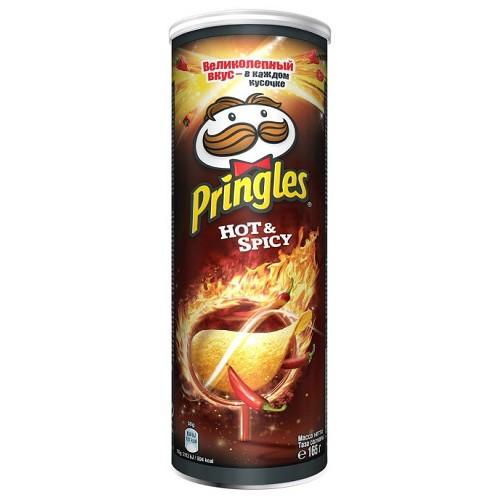 Pringles чипсы картофельные острые с пряным вкусом, 165 гр