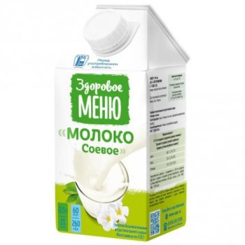 Здоровое меню молоко соевое, 500 мл