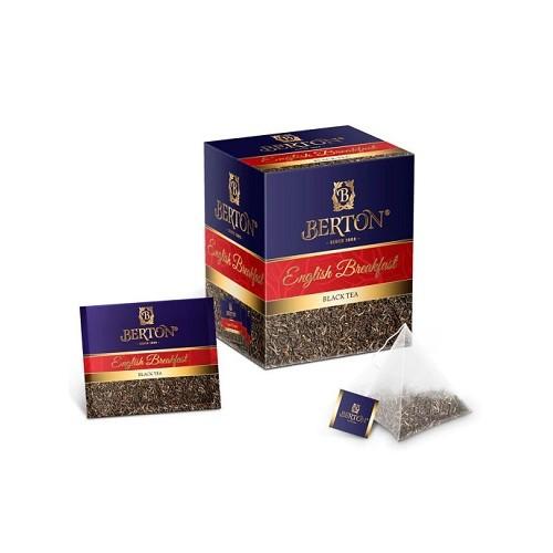 Berton черный чай Английский завтрак, 20 пакетиков