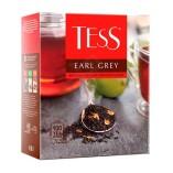 Tess черный чай Earl Grey, 100 пакетиков