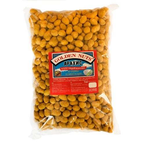 Golden Nuts Арахис в хрустящей корочке, сметана и лук, 1 кг.