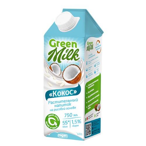 Green Milk напиток на рисовой основе Кокос, 750 мл