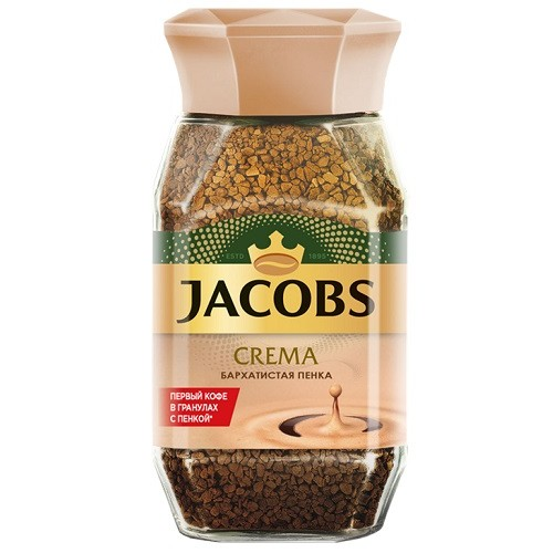 Jacobs Monarch Crema, растворимый, стекло, 95 гр