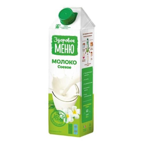 Здоровое меню молоко соевое, 1л
