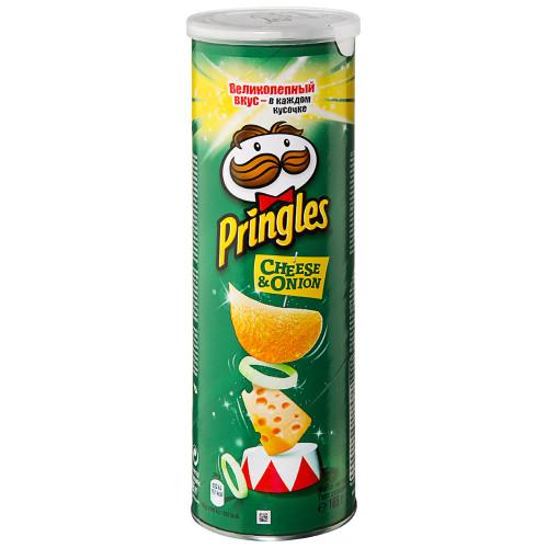 Pringles чипсы картофельные Сыр и лук, 165 гр