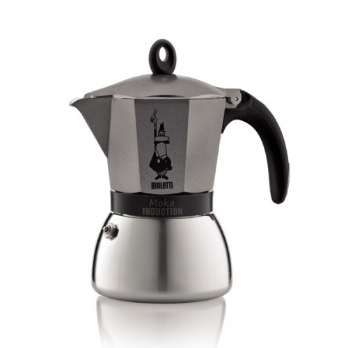 Bialetti Moka Induction Antacite гейзерная кофеварка на 6 порций