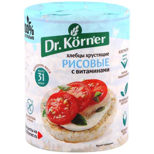 Dr.Korner хлебцы рисовые с витаминами, 100 гр