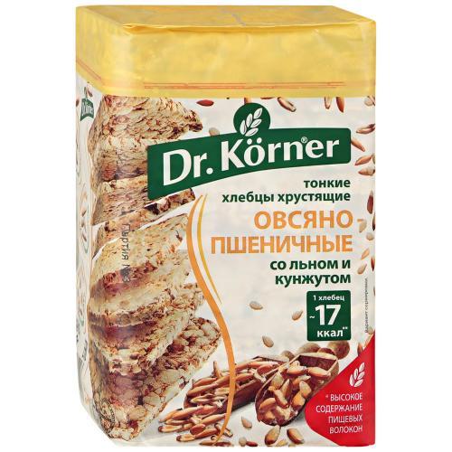 Dr.Korner хлебцы овсяно-пшеничные со смесью семян, 100 гр