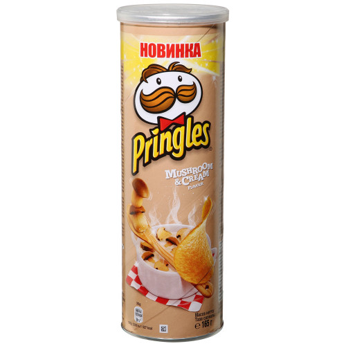 Pringles чипсы картофельные Белые грибы со сметаной, 165 гр