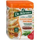 Dr.Korner хлебцы кукурузно-рисовые киноа, лен, розмарин, 100 гр