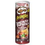 Pringles чипсы картофельные Копченая паприка и миндаль, 165 гр