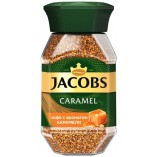 Jacobs Monarch Карамель, растворимый, стекло, 95 гр