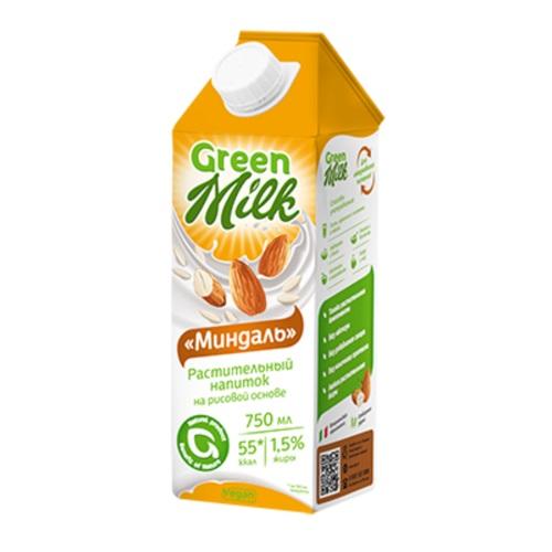 Green Milk напиток на рисовой основе Миндаль, 750 мл