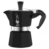 Bialetti Moka Express гейзерная кофеварка на 3 порции, черная