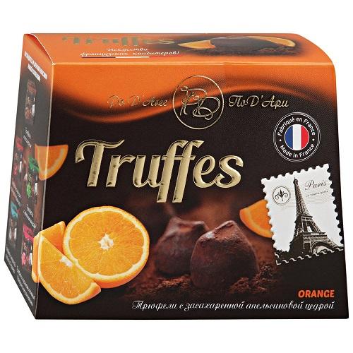 Mathez трюфель с апельсиновой цедрой, 160 гр.
