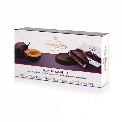 Anthon Berg конфеты шоколадные с марципаном Слива в мадейре, 220 гр