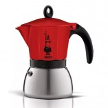 Bialetti Moka Induction Red гейзерная кофеварка на 6 порций