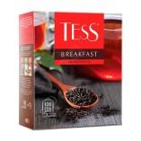 Tess черный чай Breakfast, 100 пакетиков