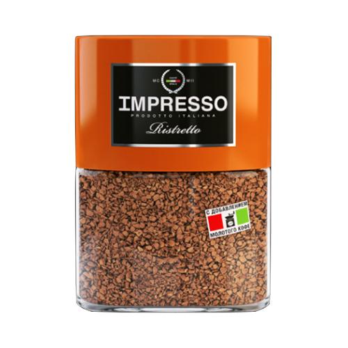 Impresso Ristretto, растворимый кофе, 100 гр