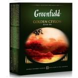 Greenfield черный чай Golden Ceylon, 100 пакетиков