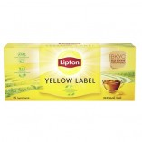 Lipton черный чай Yellow Label, 25 пакетиков