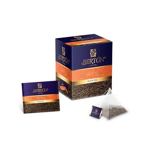 Berton черный чай Дикий Цейлон, 20 пакетиков