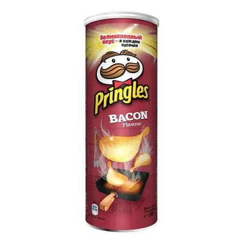 Pringles чипсы картофельные Бекон, 165 гр