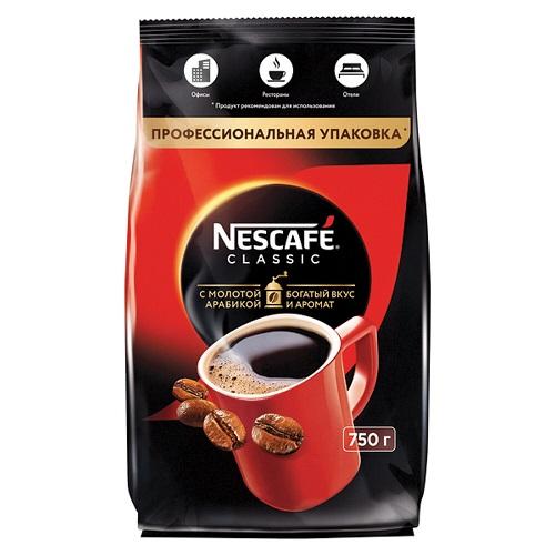 Nescafe classic, растворимый, м/у, 750 гр.