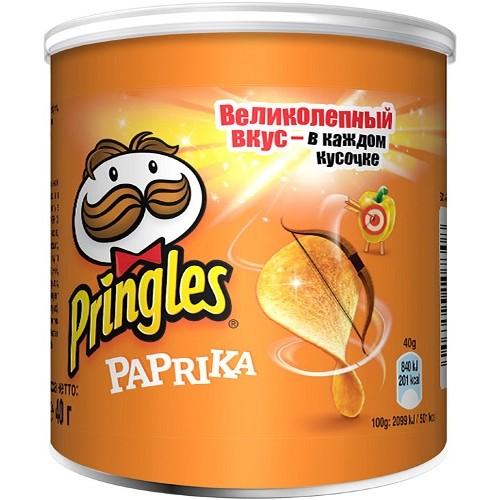 Pringles чипсы картофельные Паприка, 40 гр