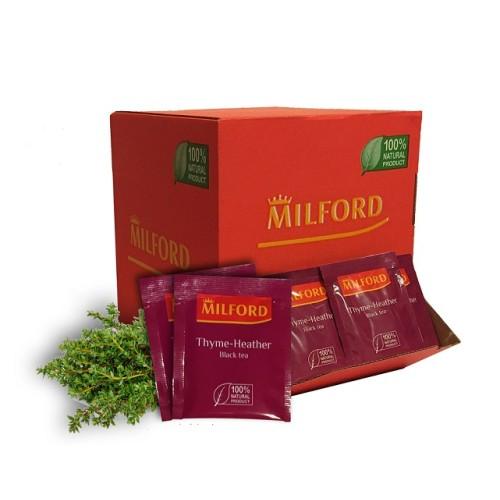 Milford черный чай с чабрецом и цветками вереска, 200 пакетиков