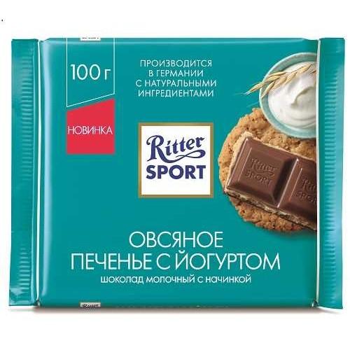 Ritter Sport Овсяное печенье с йогуртом, 100 гр