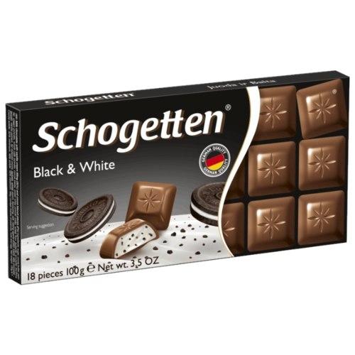 Schogetten шоколад молочный, ванильный крем с кусочками печенья какао, 100 гр
