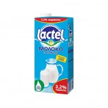 Lactel молоко с витамином D 3,2%, 1л