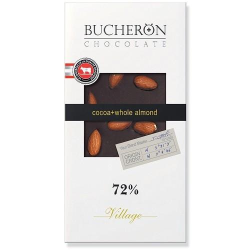 Bucheron шоколад горький c цельным миндалем, 100 гр