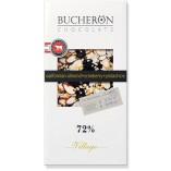 Bucheron шоколад горький с миндалем, клюквой и фисташками, 100 гр