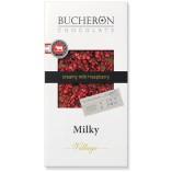 Bucheron шоколад молочный с кусочками малины, 100 гр