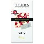 Bucheron шоколад белый с кусочками малины, 100 гр