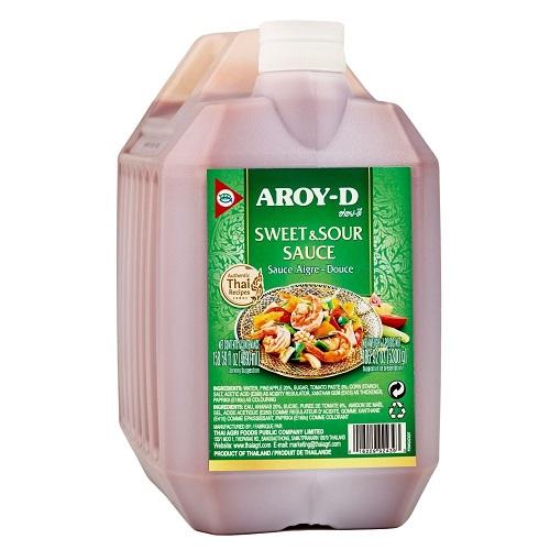 Aroy-D, соус кисло-сладкий, 5,3 кг