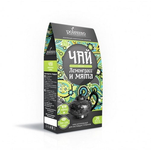 Polezzno чай лемонграсс и мята, relax, 40 гр