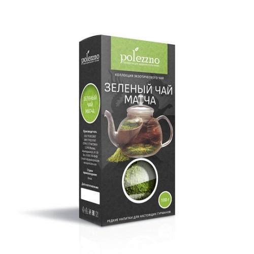 Polezzno чай зеленый матча, органик, 50 гр