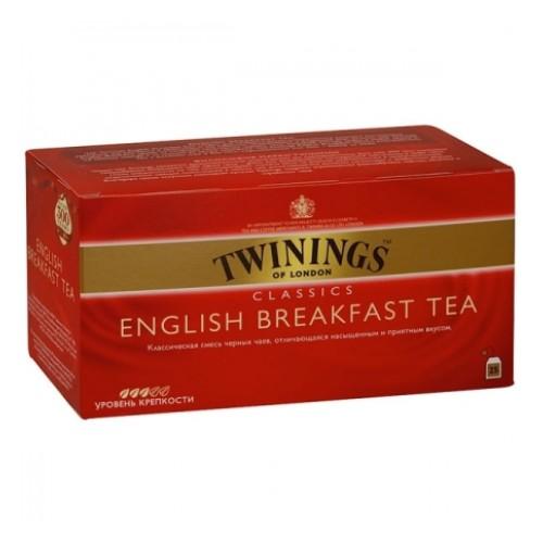 Twinings чай черный Английский завтрак, 25 пакетиков