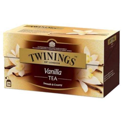 Twinings чай черный с ароматом ванили, 25 пакетиков
